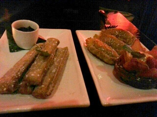 Churros and apple empanadas - Ventanas NYC