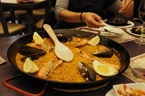 Oh my. Seafood paella.
