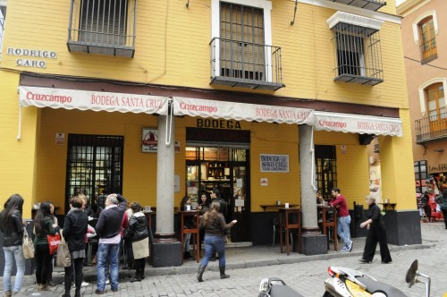 Our tapas place in Seville. Yum!