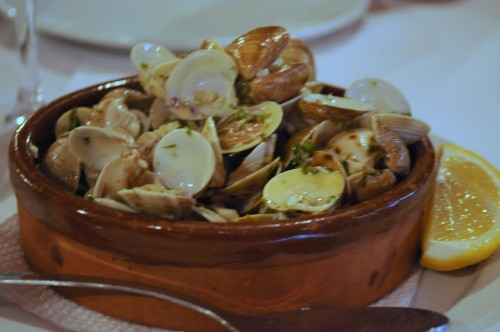 Clams and garlic.