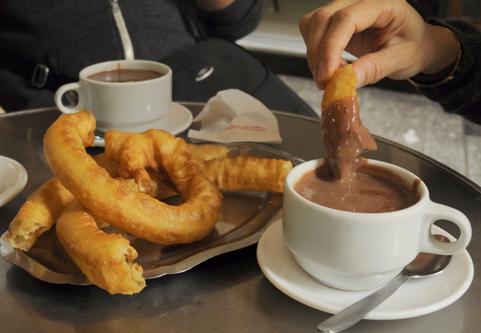 Churros Con Chocolate at Casa Aranda, Malaga, Spain ...