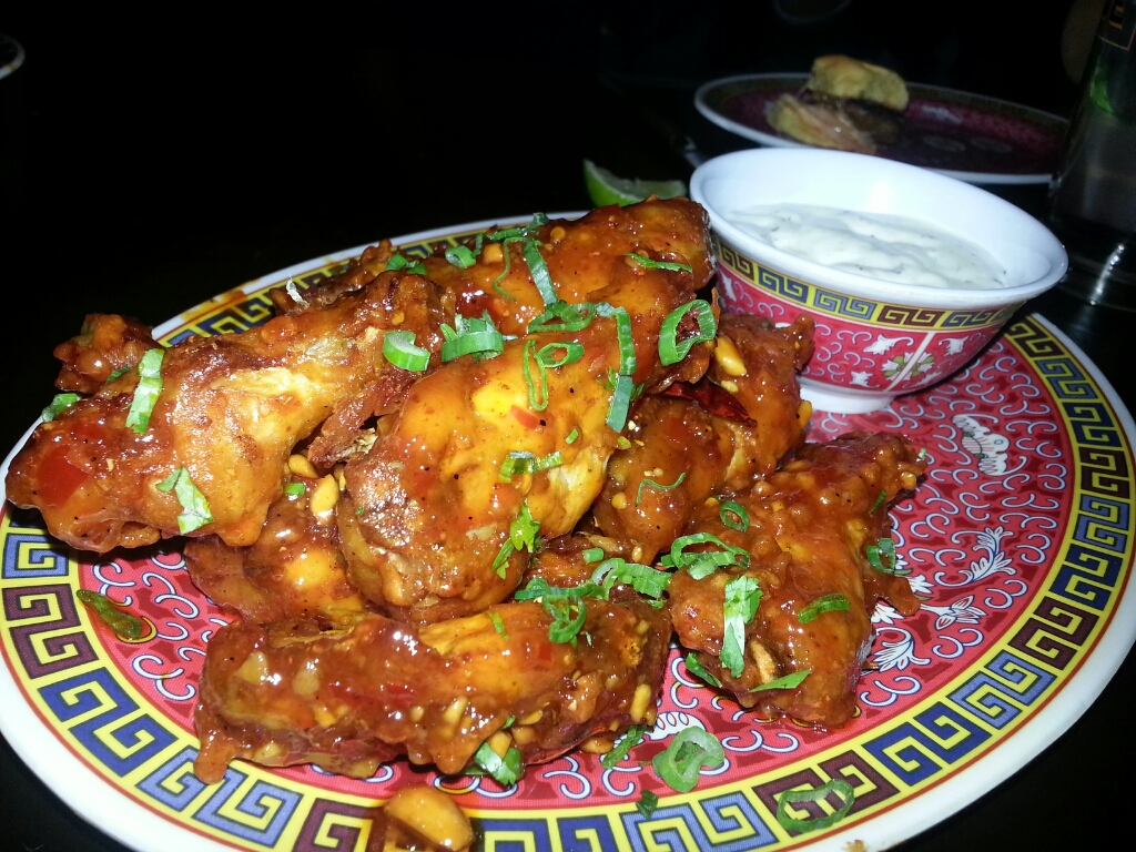 Kung Pao Chicken Wings - peanuts, house-made buttermilk ranch