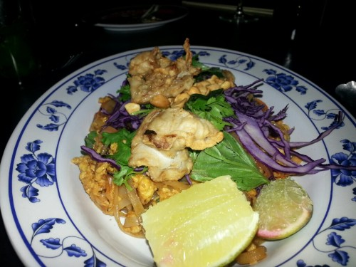 Crispy Oyster and Bacon Pad Thai