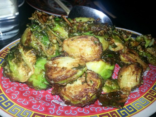 Brussels sprouts with calamansi